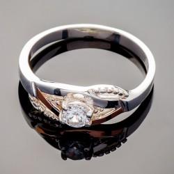 Серебряное кольцо с фианитом Алиса