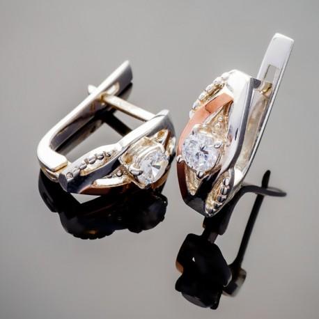Серебряные серьги Алиса