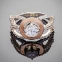Шикарное серебряное кольцо Даяна с фианитом