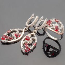 Серебряные украшения Страсть (красный)