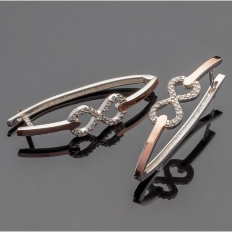 Серебряные серьги Диор - знак бесконечности