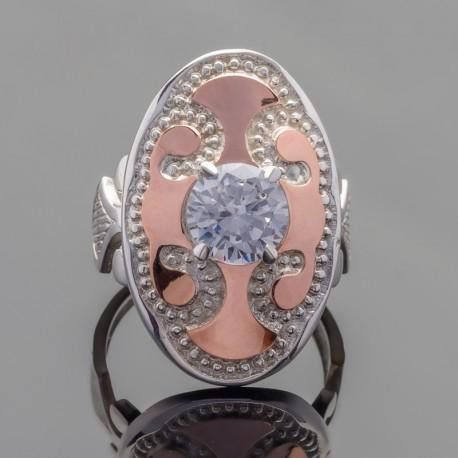Массивное серебряное кольцо Динара