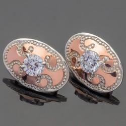 Серьги Динара из серебра с золотом