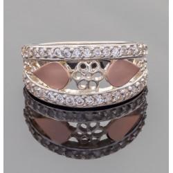 Кольцо Мила из серебра и золота