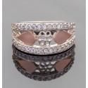Широкое кольцо Мила из серебра и золота