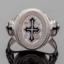 Печатка из серебра с крестом