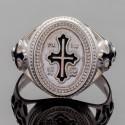 Печатка из серебра 925 пробы с крестом
