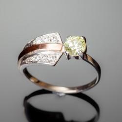 Серебряное кольцо Грация (оливковый)