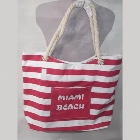Пляжная сумка в полоску MIAMI (красный)