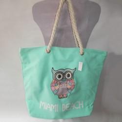 Плотная пляжная сумка с принтом Сова