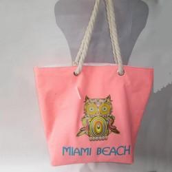 Пляжная сумка Сова (розовый)