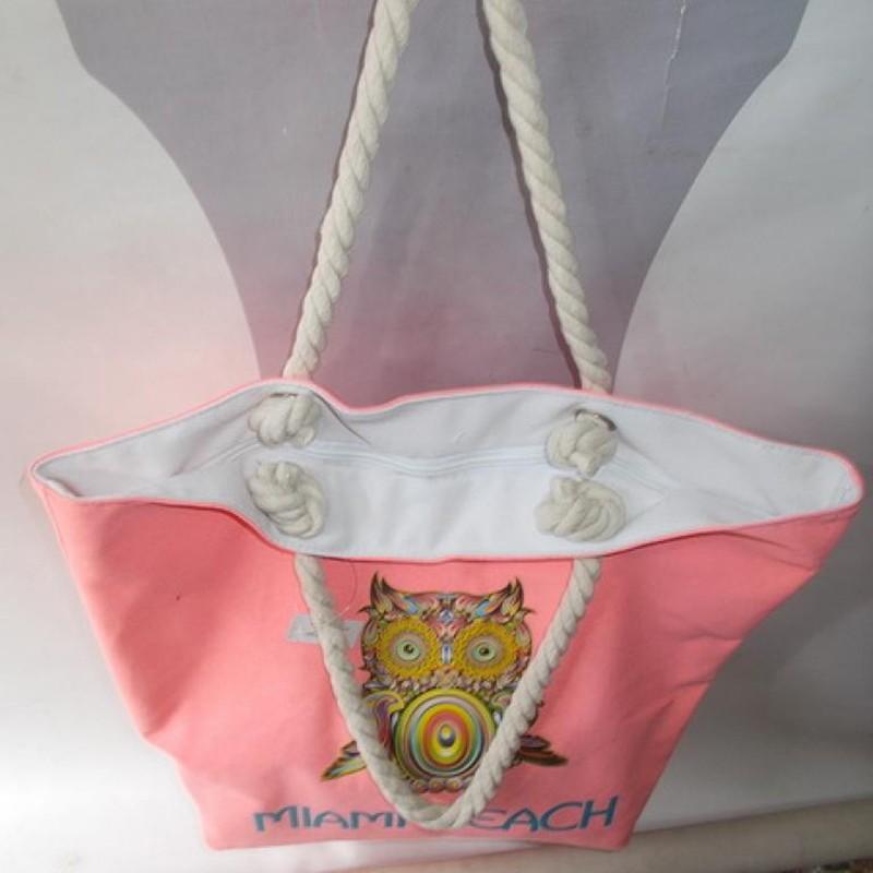 d2295270e0f4 Плотная пляжная сумка с принтом Сова / Lady.cn.ua