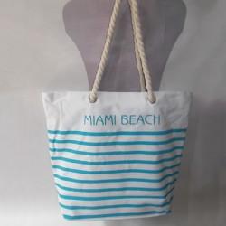 Пляжная сумка MIAMI BIACH в полоску