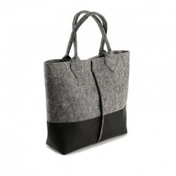 Двухцветная сумка из войлока
