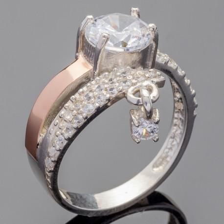 Серебряное колечко Рината с камнем