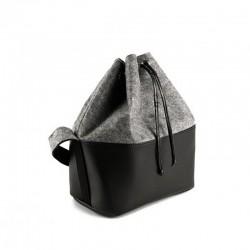Войлочная сумка-мешок на шнуроке двух цветов