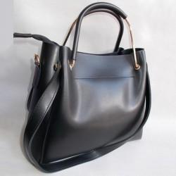 Женскя сумка шоппер черная