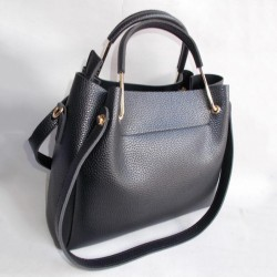 Женскя сумка черная, фактурная