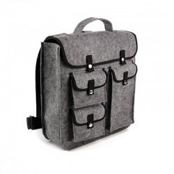 Рюкзак из войлока с карманами