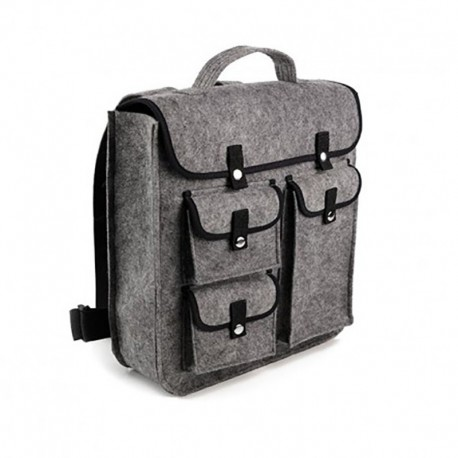 Рюкзак из войлока с карманами (серый)
