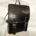 Кожаный рюкзак с клапаном под рептилию