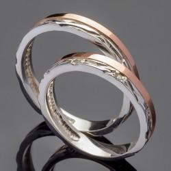 Кольца для свадьбы из серебра и золота