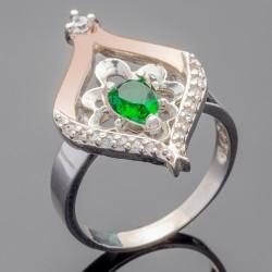 Серебряный перстень Мадрид (зеленый)