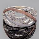 Широкое кольцо Ольвия из серебра и золота