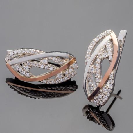 Ольвия - ажурные серебряные серьги