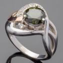 Красивое серебряное кольцо Мрия с фианитом