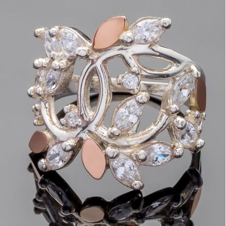 Серебряное кольцо Эвелина