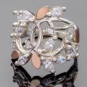 Серебряное кольцо Эвелина с белыми маркизами