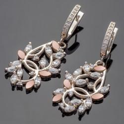 Серебряные серьги Эвелина