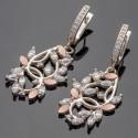 Серебряные серьги шандольеры Эвелина, висячие
