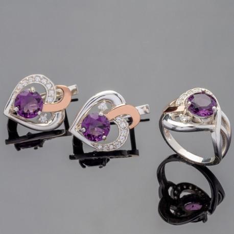 Серебряные украшения Мрия (аметист)