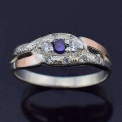 Серебряное кольцо Камила (фиолетовый)