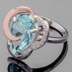 Кольцо женское Голубика (голубой)