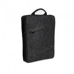 Классическая мужская сумка-рюкзак из войлока на два отделения