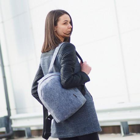Практичный рюкзак из войлока (серый)
