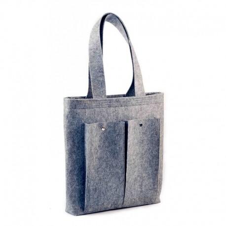 Войлочная сумка на кнопке (серый)