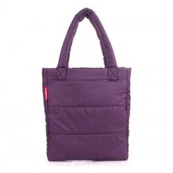 Дутая сумка Poolparty PUFFY ECO-BAGS (фиолетовая)