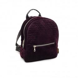 Женский рюкзак из велюра (марсала)