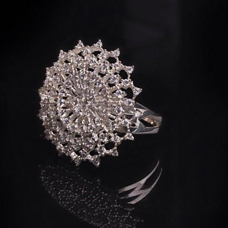 Серебряное кольцо Барселона в виде паутины