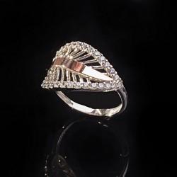 Серебряное кольцо Софи с золотом