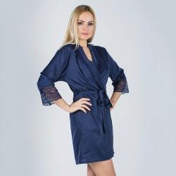 Женский халат с дорогим кружевом