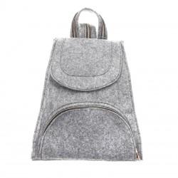 Войлочный женский рюкзак (серый)
