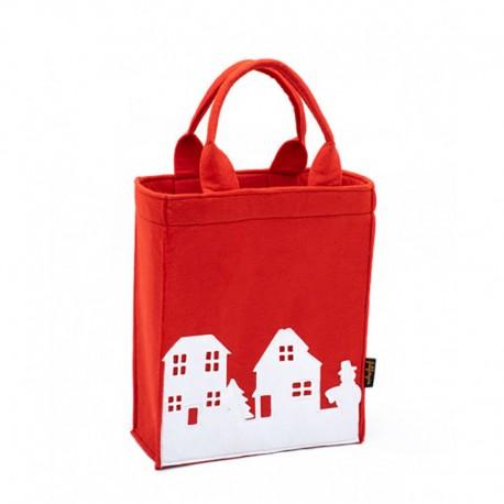 4044e7cb23c9 Фетровая сумка в виде пакета с ручками ВЫТЫНАНКА - в магазине ...