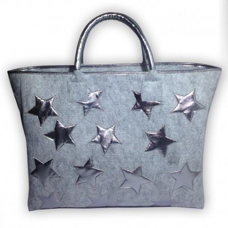 Фетровая сумочка со звёздами