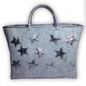 Фетровая сумочка с серебряными звёздами