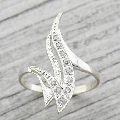 Серебряное кольцо Пламя
